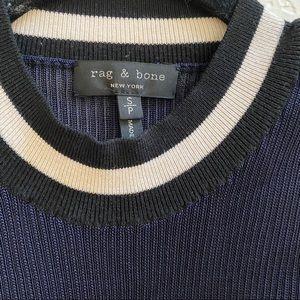 rag & bone Tops - Rag & Bone Sleeveless Navy Blue Collared Blouse